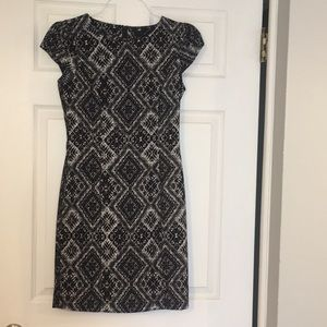 H&M knee length black and whit dress size 8